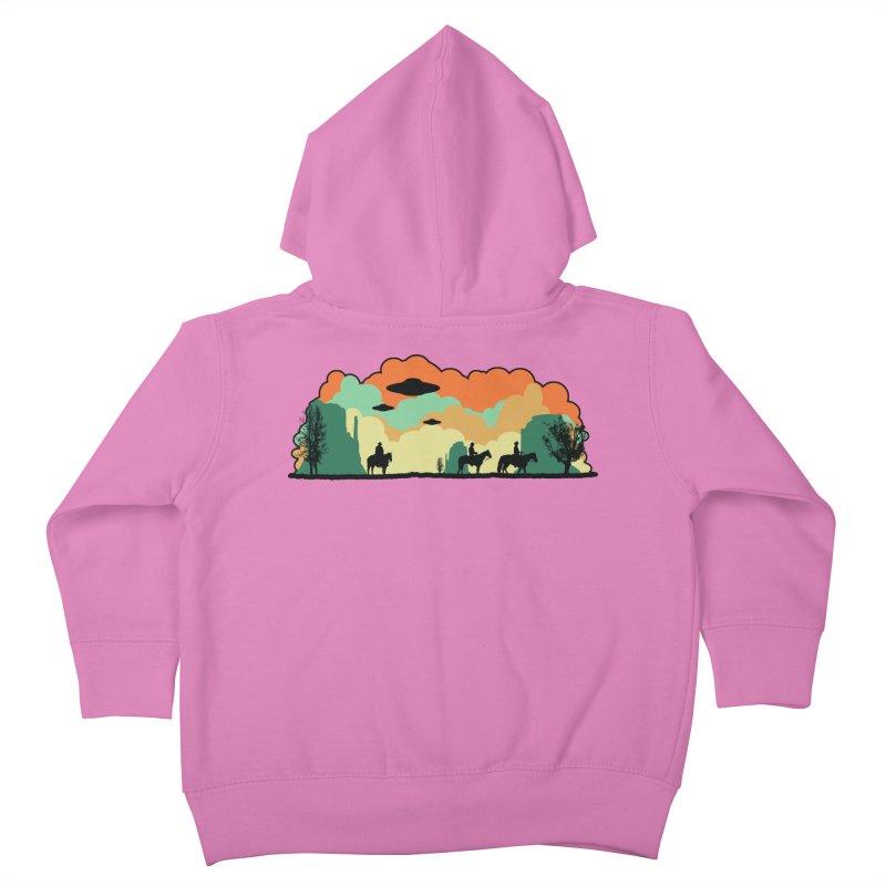 Cowboys & Aliens Kids Toddler Zip-Up Hoody by Kamonkey's Artist Shop