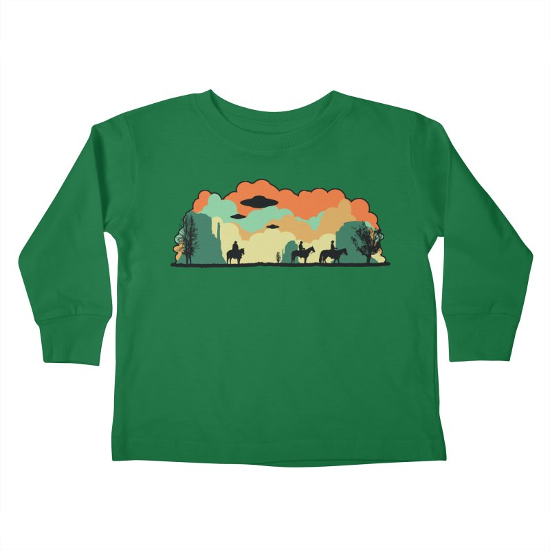 Cowboys & Aliens Kids Toddler Longsleeve T-Shirt by Kamonkey's Artist Shop