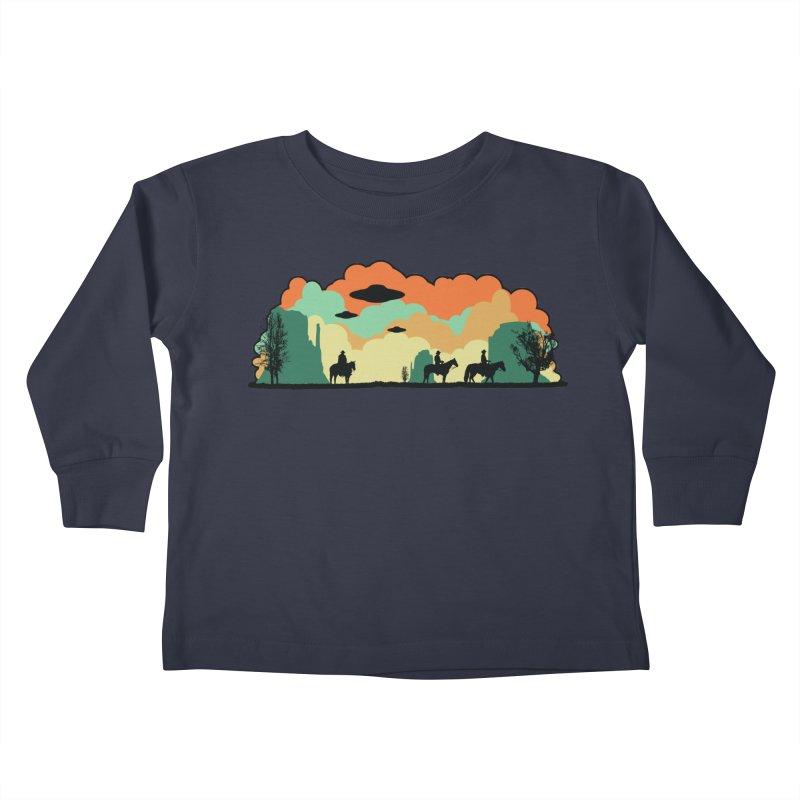 Cowboys & Aliens Kids Toddler Longsleeve T-Shirt by Kamonkey's Artist Shop
