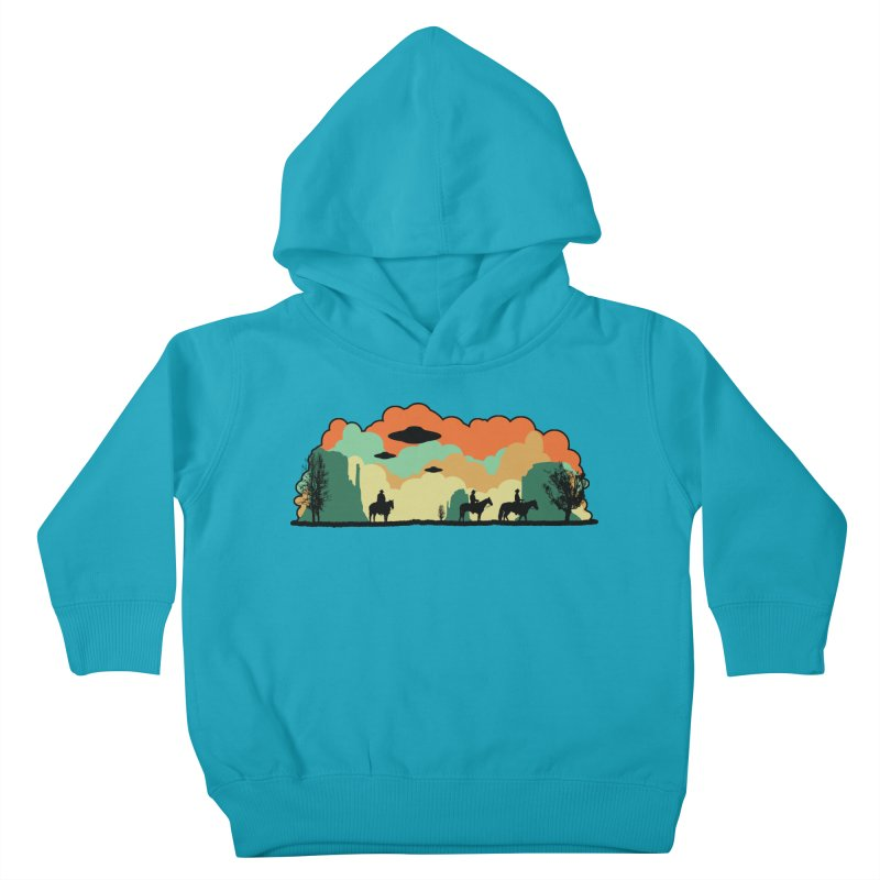 Cowboys & Aliens Kids Toddler Pullover Hoody by Kamonkey's Artist Shop