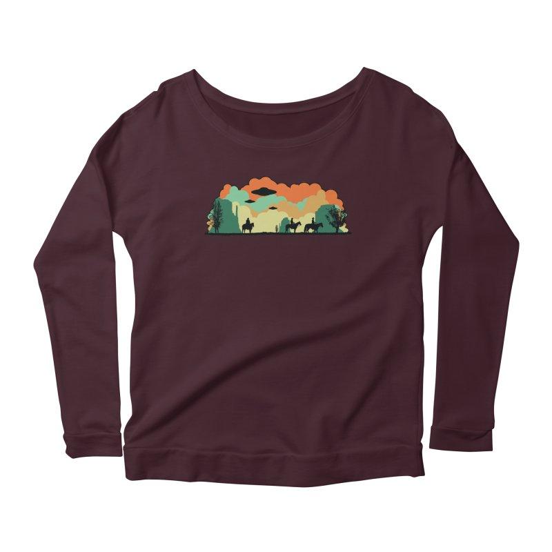 Cowboys & Aliens Women's Scoop Neck Longsleeve T-Shirt by Kamonkey's Artist Shop