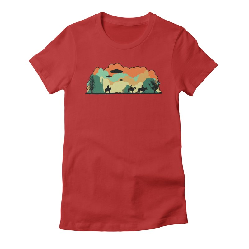 Cowboys & Aliens Women's Fitted T-Shirt by Kamonkey's Artist Shop