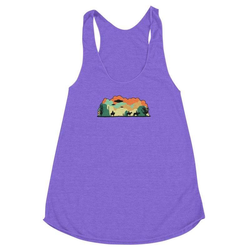 Cowboys & Aliens Women's Racerback Triblend Tank by Kamonkey's Artist Shop