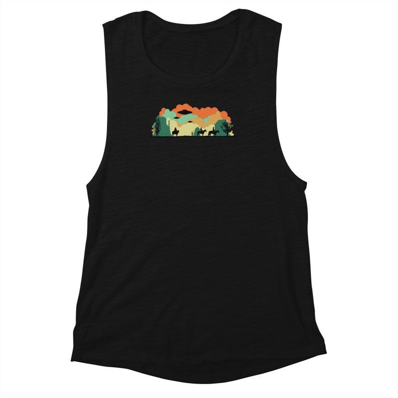 Cowboys & Aliens Women's Muscle Tank by Kamonkey's Artist Shop