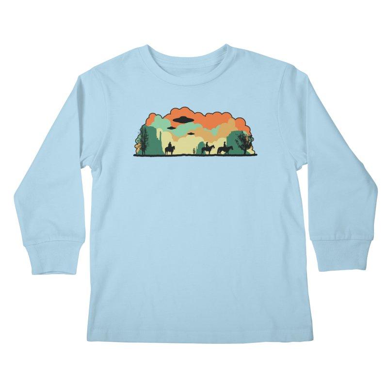 Cowboys & Aliens Kids Longsleeve T-Shirt by Kamonkey's Artist Shop