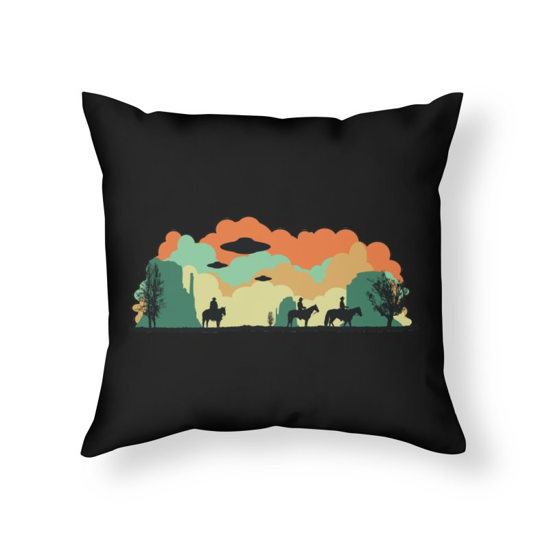 Cowboys & Aliens Home Throw Pillow by Kamonkey's Artist Shop