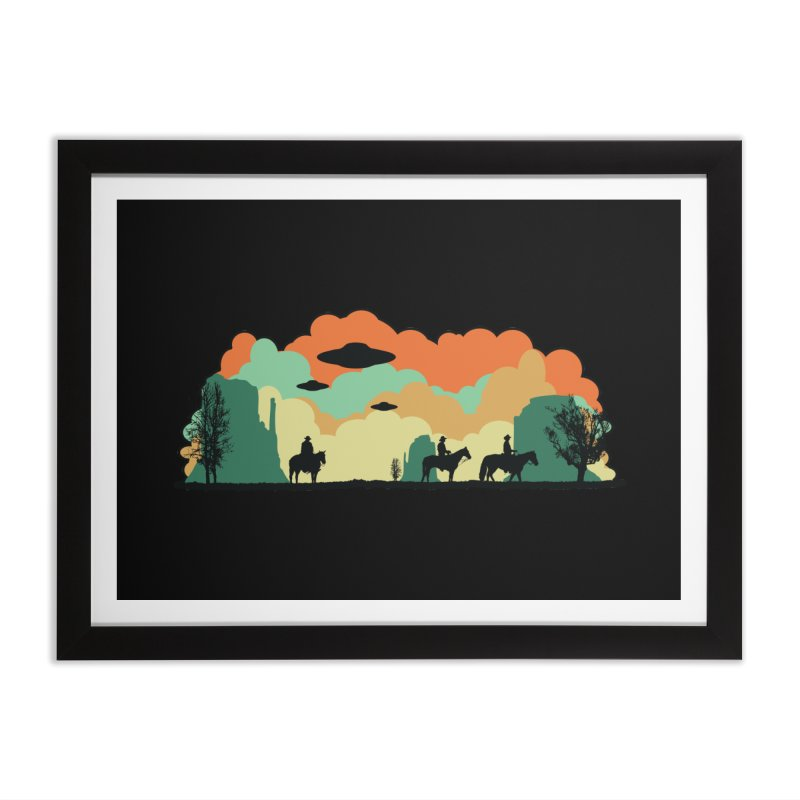 Cowboys & Aliens Home Framed Fine Art Print by Kamonkey's Artist Shop