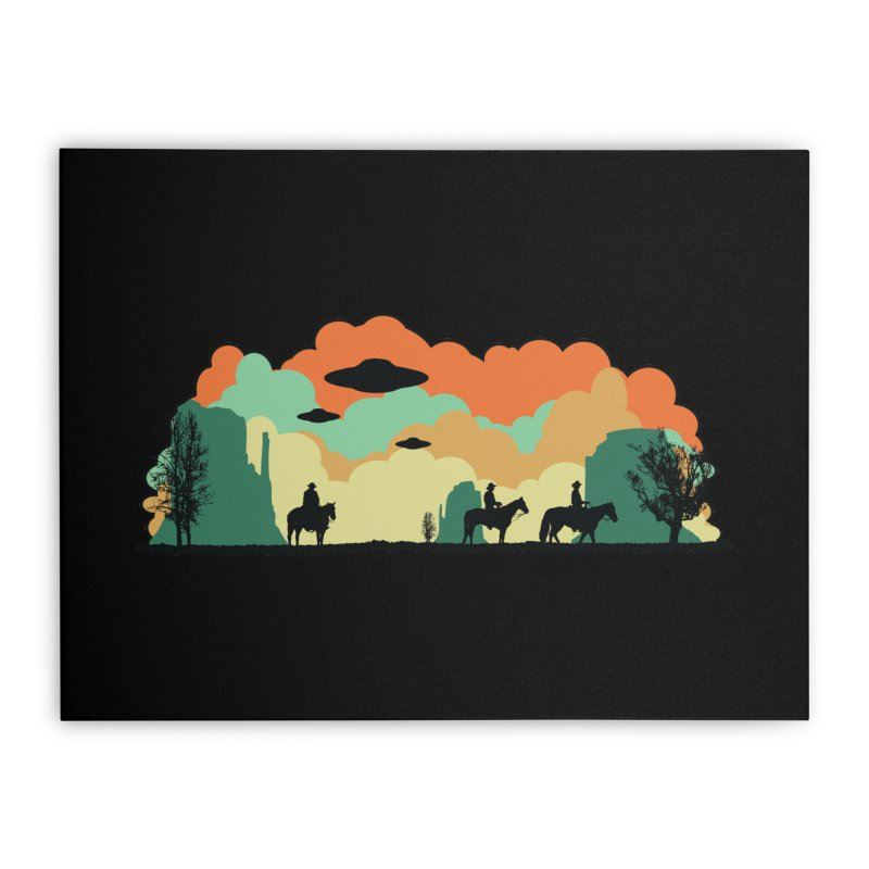 Cowboys & Aliens Home Stretched Canvas by Kamonkey's Artist Shop