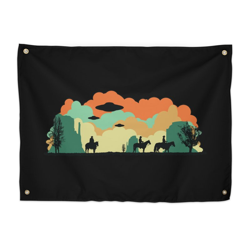 Cowboys & Aliens Home Tapestry by Kamonkey's Artist Shop