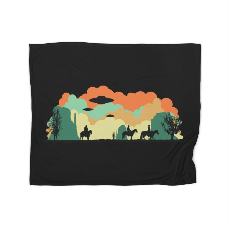 Cowboys & Aliens Home Fleece Blanket Blanket by Kamonkey's Artist Shop