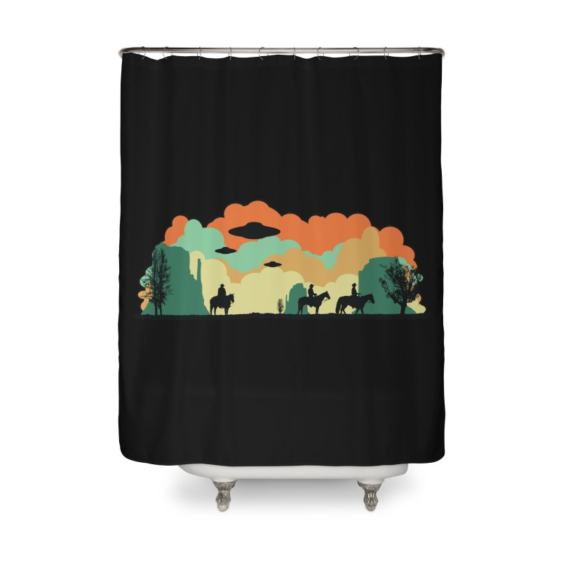 Cowboys & Aliens Home Shower Curtain by Kamonkey's Artist Shop