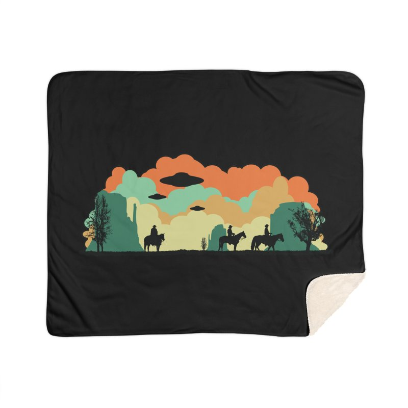 Cowboys & Aliens Home Sherpa Blanket Blanket by Kamonkey's Artist Shop
