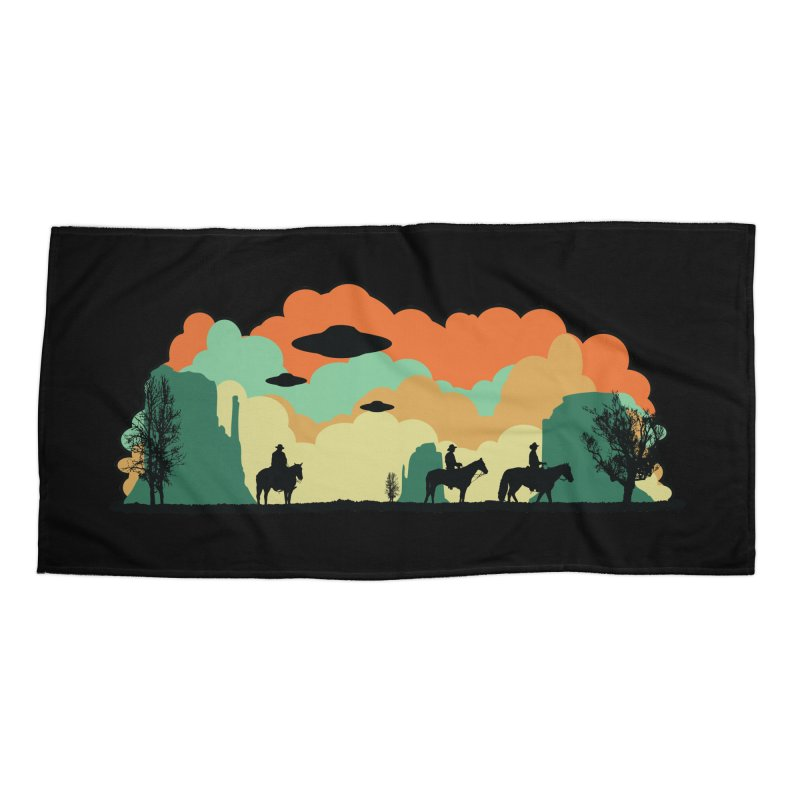 Cowboys & Aliens Accessories Beach Towel by Kamonkey's Artist Shop