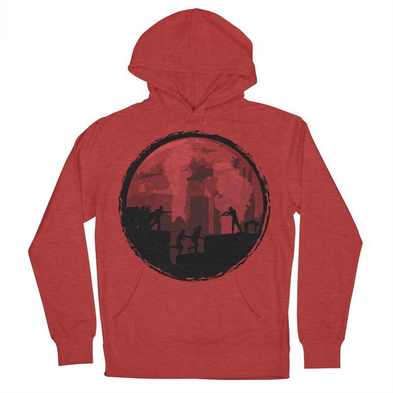 Zombies, Run! Men's French Terry Pullover Hoody by Kamonkey's Artist Shop