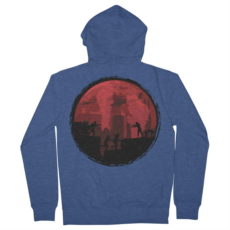 Zombies, Run! Women's French Terry Zip-Up Hoody by Kamonkey's Artist Shop