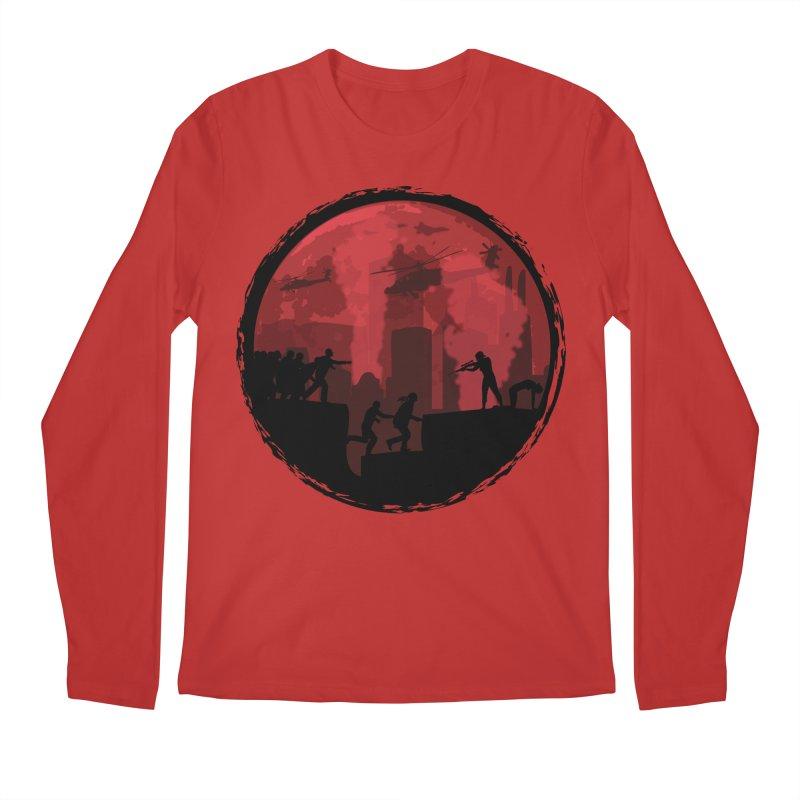 Zombies, Run! Men's Regular Longsleeve T-Shirt by Kamonkey's Artist Shop