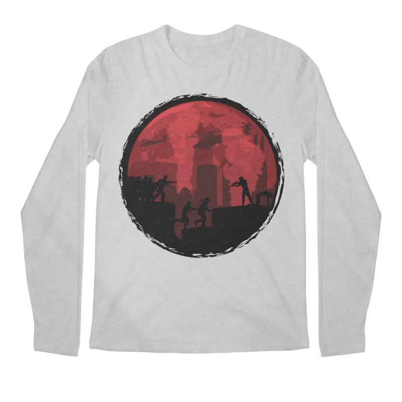 Zombies, Run! Men's Regular Longsleeve T-Shirt by Kamonkey's Artist Shop