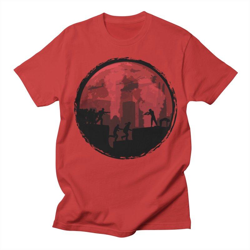 Zombies, Run! Men's Regular T-Shirt by Kamonkey's Artist Shop