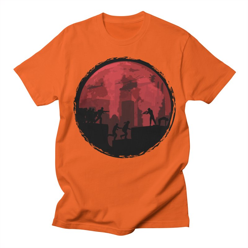 Zombies, Run! Men's Regular T-Shirt by Kamonkey's Artist Shop