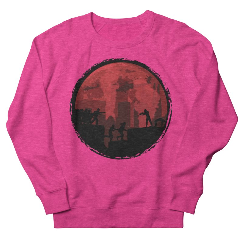 Zombies, Run! Women's French Terry Sweatshirt by Kamonkey's Artist Shop