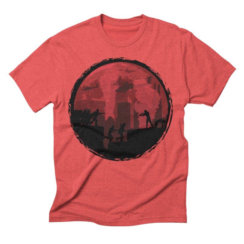 Zombies, Run! Men's Triblend T-Shirt by Kamonkey's Artist Shop