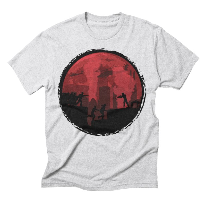 Zombies, Run! Men's Triblend T-Shirt by Kamonkey's Artist Shop