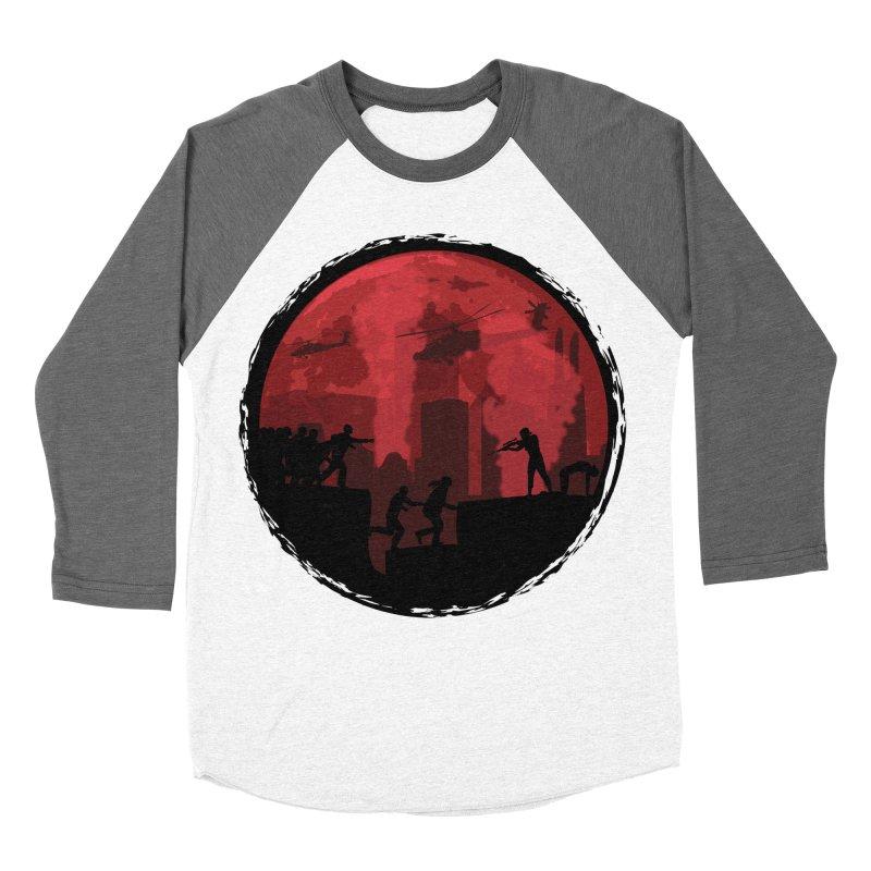 Zombies, Run! Women's Baseball Triblend Longsleeve T-Shirt by Kamonkey's Artist Shop