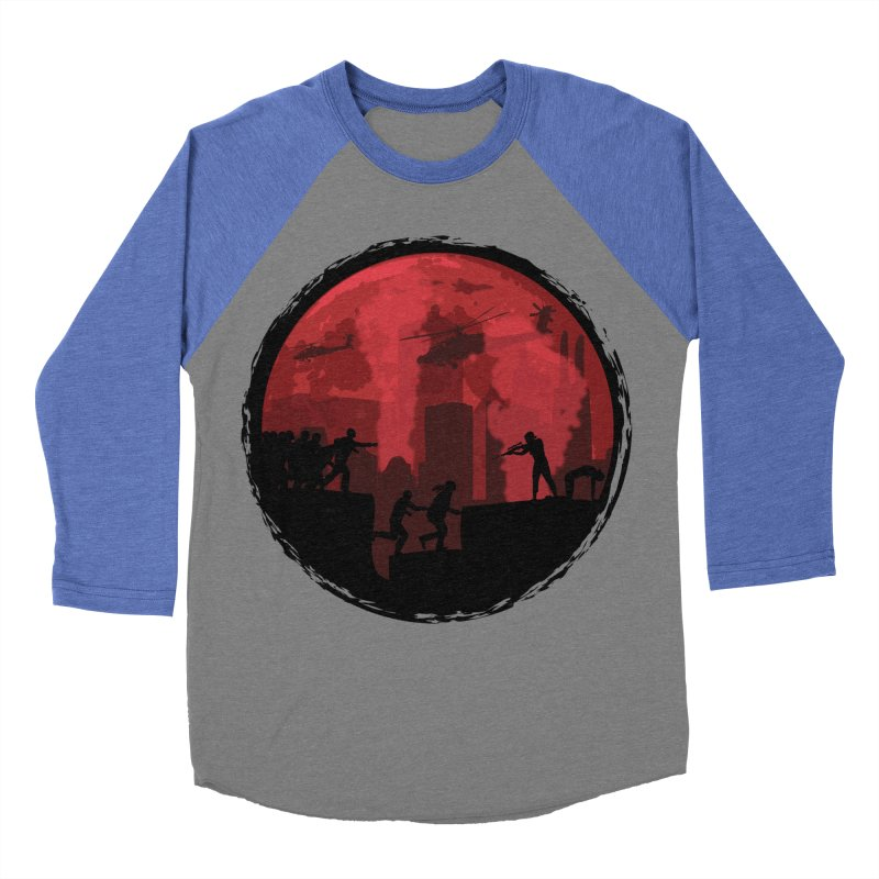 Zombies, Run! Women's Baseball Triblend Longsleeve T-Shirt by Kamonkey's Artist Shop