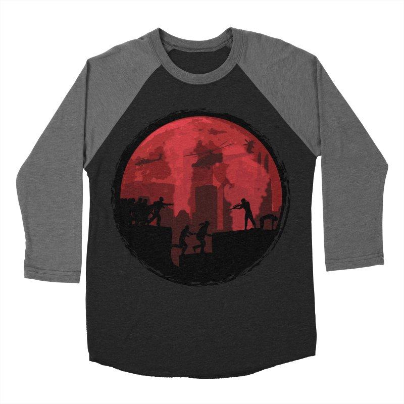 Zombies, Run! Women's Baseball Triblend T-Shirt by Kamonkey's Artist Shop