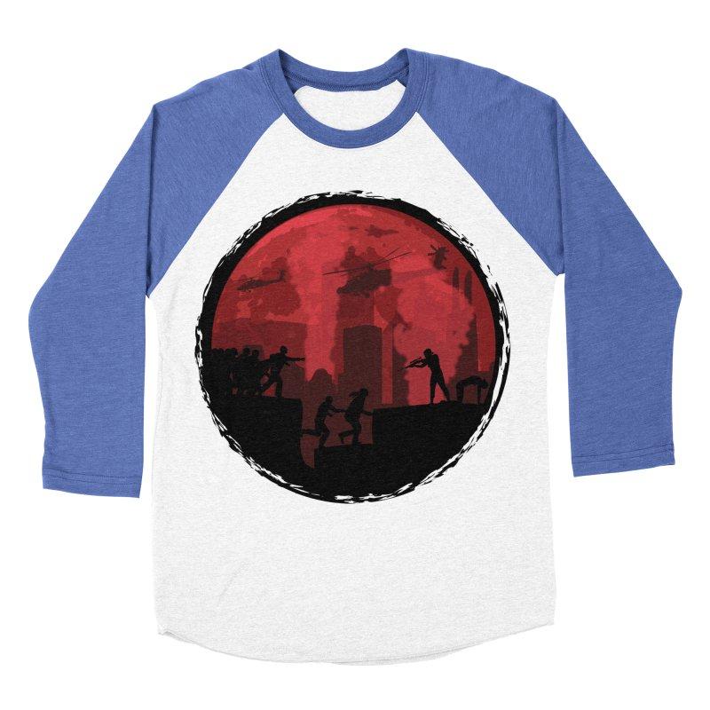 Zombies, Run! Men's Baseball Triblend Longsleeve T-Shirt by Kamonkey's Artist Shop