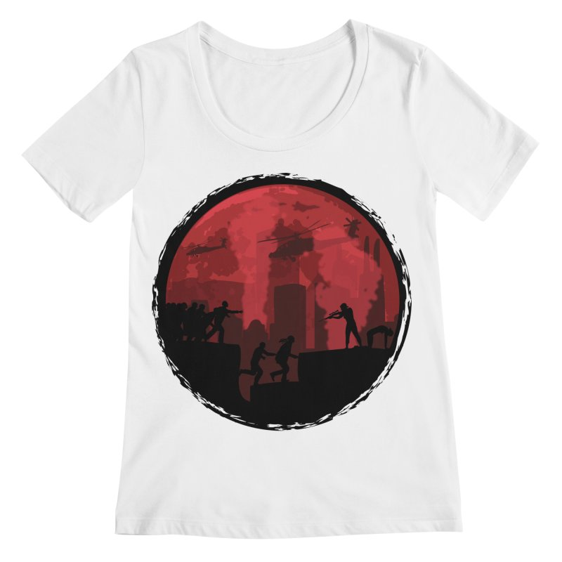 Zombies, Run! Women's Regular Scoop Neck by Kamonkey's Artist Shop