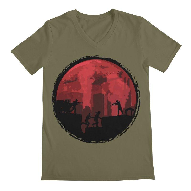 Zombies, Run! Men's Regular V-Neck by Kamonkey's Artist Shop