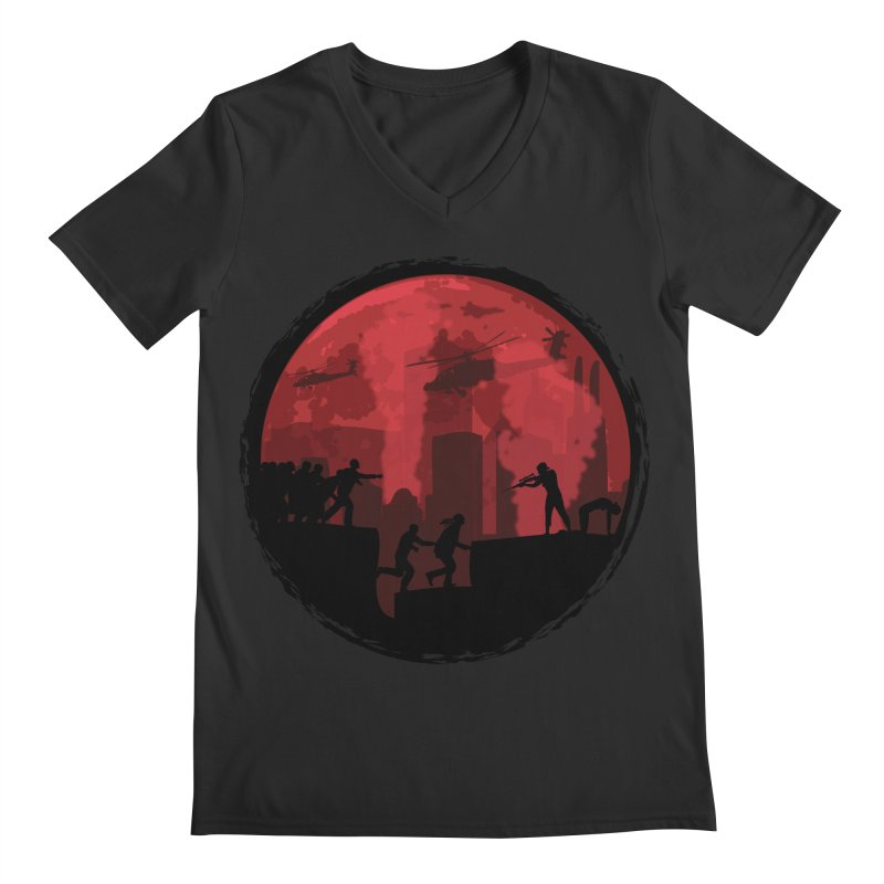 Zombies, Run! Men's Regular V-Neck by Kamonkey's Artist Shop