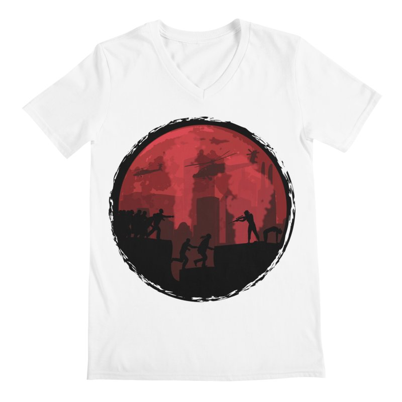 Zombies, Run! Men's V-Neck by Kamonkey's Artist Shop