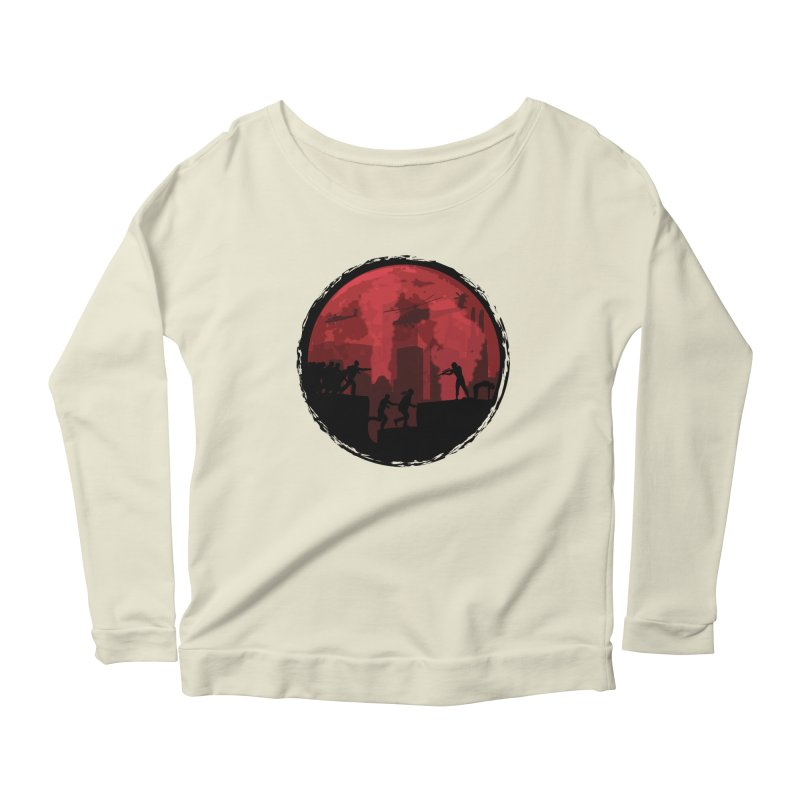 Zombies, Run! Women's Scoop Neck Longsleeve T-Shirt by Kamonkey's Artist Shop