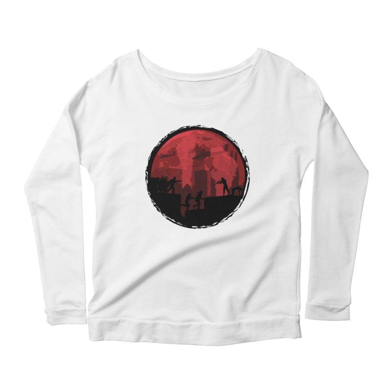 Zombies, Run! Women's Scoop Neck Longsleeve T-Shirt by Kamonkey's Artist Shop