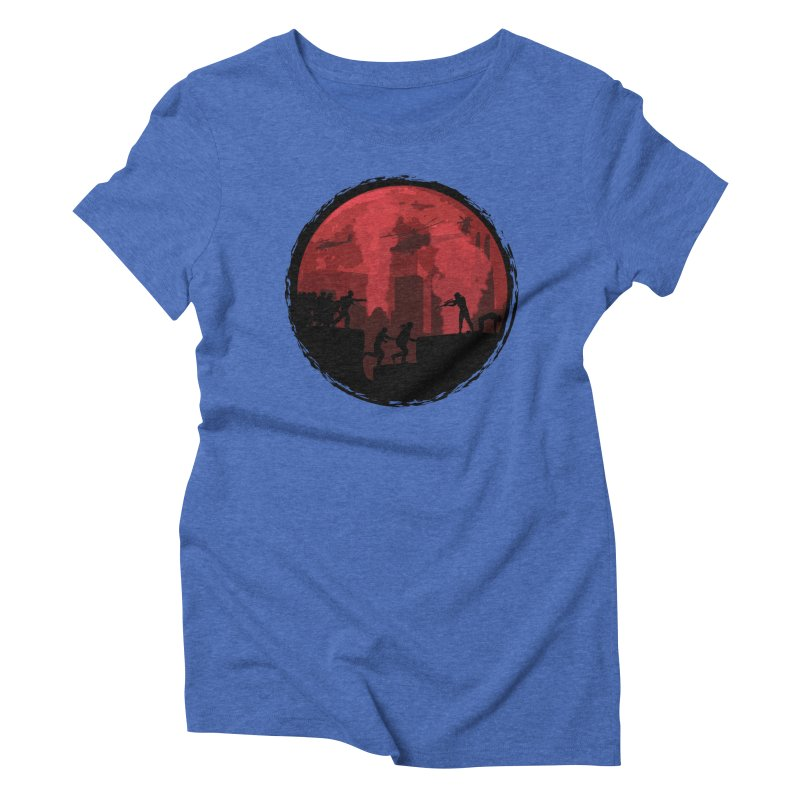 Zombies, Run! Women's Triblend T-Shirt by Kamonkey's Artist Shop