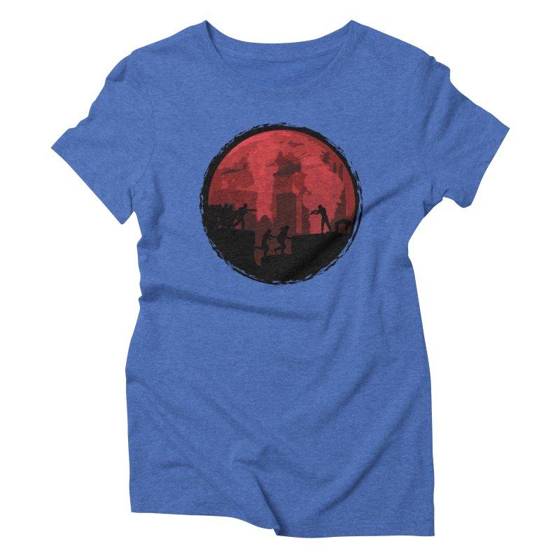 Zombies, Run! Women's Triblend T-shirt by Kamonkey's Artist Shop