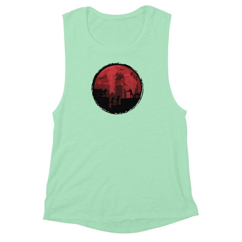 Zombies, Run! Women's Muscle Tank by Kamonkey's Artist Shop