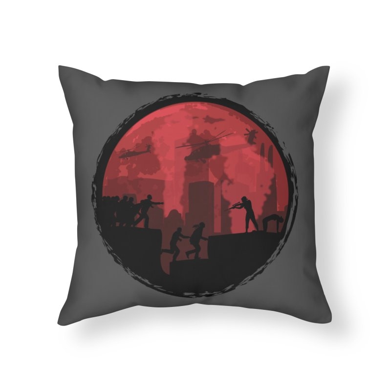 Zombies, Run! Home Throw Pillow by Kamonkey's Artist Shop