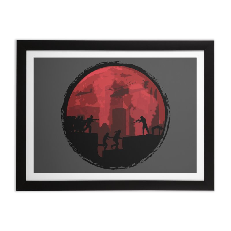 Zombies, Run! Home Framed Fine Art Print by Kamonkey's Artist Shop