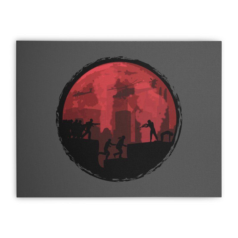 Zombies, Run! Home Stretched Canvas by Kamonkey's Artist Shop