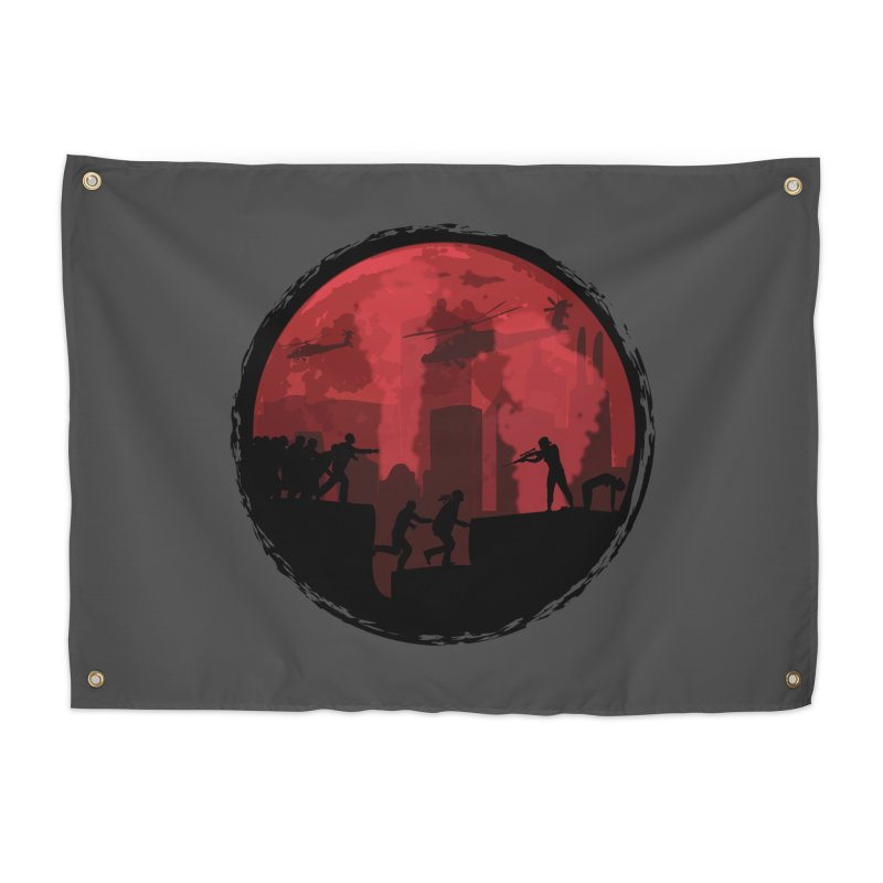Zombies, Run! Home Tapestry by Kamonkey's Artist Shop