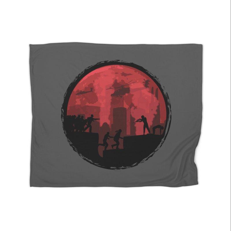 Zombies, Run! Home Fleece Blanket Blanket by Kamonkey's Artist Shop