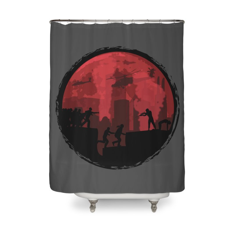 Zombies, Run! Home Shower Curtain by Kamonkey's Artist Shop