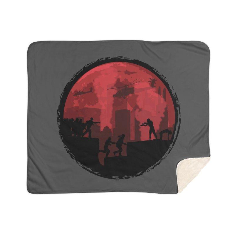 Zombies, Run! Home Sherpa Blanket Blanket by Kamonkey's Artist Shop