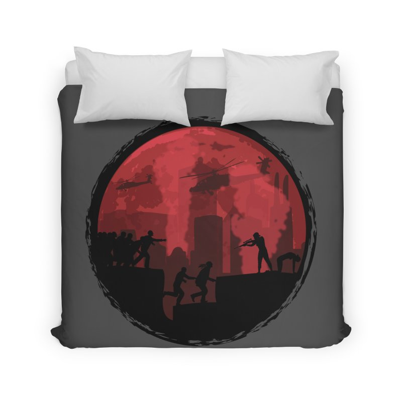 Zombies, Run! Home Duvet by Kamonkey's Artist Shop