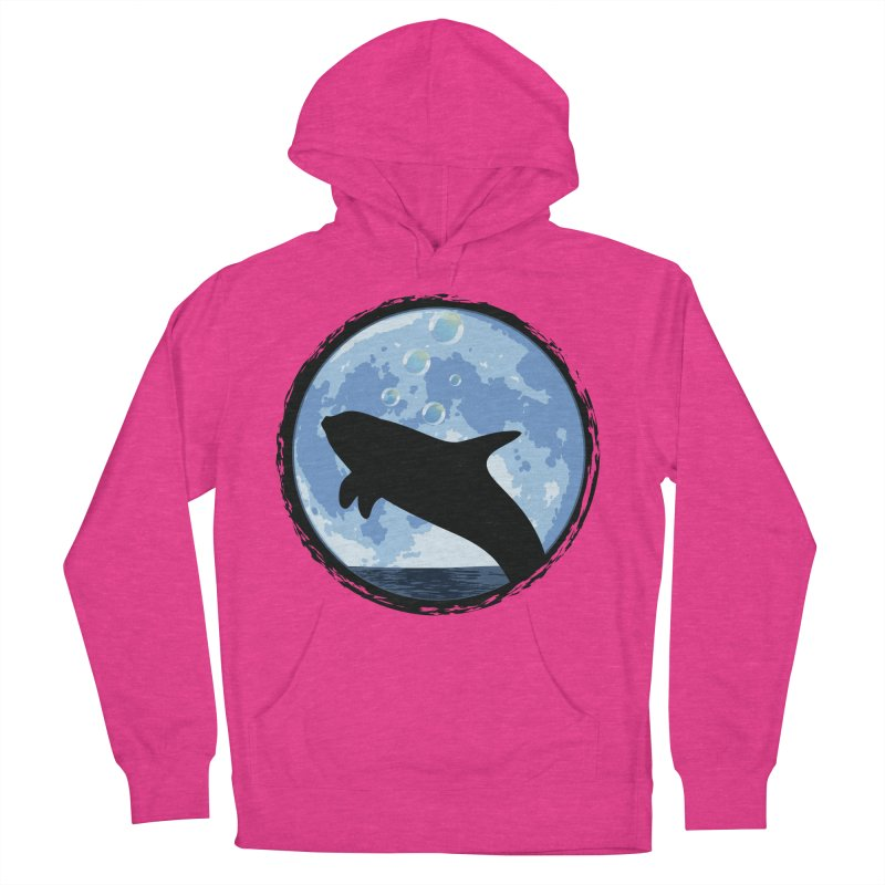 Dolphin Moon Women's French Terry Pullover Hoody by Kamonkey's Artist Shop