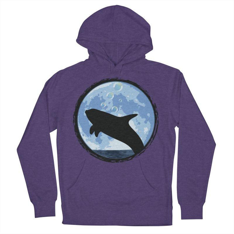 Dolphin Moon Men's Pullover Hoody by Kamonkey's Artist Shop