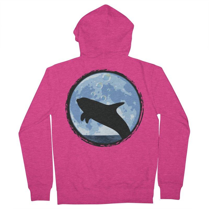 Dolphin Moon Women's Zip-Up Hoody by Kamonkey's Artist Shop